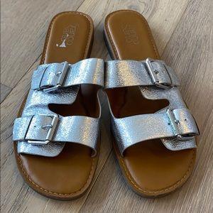 Franco sarto silver slide Godiva sandal size 11